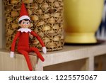 Funny christmas toy elf on...