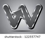 silver arrow icon symbol...   Shutterstock .eps vector #122557747