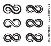 infinity icon in trendy flat... | Shutterstock .eps vector #1225589131
