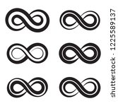 infinity icon in trendy flat... | Shutterstock .eps vector #1225589137