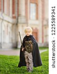 portrait of a cute little boy... | Shutterstock . vector #1225589341