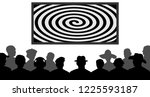 group of people  watching tv ... | Shutterstock .eps vector #1225593187