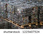 bales of recyclable metal from... | Shutterstock . vector #1225607524