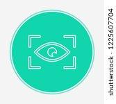 eye scan vector icon sign symbol | Shutterstock .eps vector #1225607704