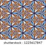 geometric flower pattern vector ... | Shutterstock .eps vector #1225617847
