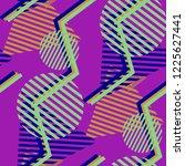 seamless pop art pattern.... | Shutterstock .eps vector #1225627441