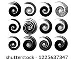 abstract vector spiral elements ... | Shutterstock .eps vector #1225637347