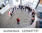 director hold company meeting ... | Shutterstock . vector #1225637737