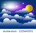 abstract glowing sky background ... | Shutterstock .eps vector #1225643551