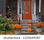 Front Porch With Halloween...