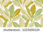 banana palm leaves exotic fruit ... | Shutterstock .eps vector #1225650124