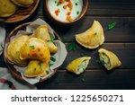 homemade potato cheese pierogi  ... | Shutterstock . vector #1225650271