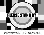 please stand by vintage... | Shutterstock .eps vector #1225659781