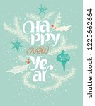 happy new year card in blue and ... | Shutterstock .eps vector #1225662664
