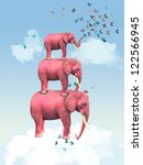 Three Pink Elephants In The...