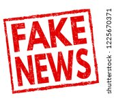 fake news sign or stamp on... | Shutterstock .eps vector #1225670371