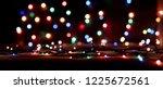 christmas lights blurred... | Shutterstock . vector #1225672561