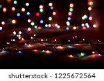 christmas lights blurred... | Shutterstock . vector #1225672564