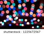 christmas lights blurred... | Shutterstock . vector #1225672567