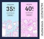 vector doodle wedding elements...   Shutterstock .eps vector #1225676794