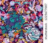 vector floral pattern.... | Shutterstock .eps vector #1225677007