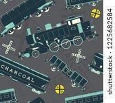 train locomotive seamless...   Shutterstock .eps vector #1225682584
