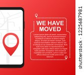 we have moved. moving office... | Shutterstock .eps vector #1225687981