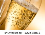 empty glasses of champagne and... | Shutterstock . vector #122568811