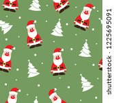 seamless christmas pattern with ... | Shutterstock .eps vector #1225695091