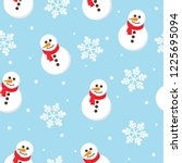 seamless christmas pattern with ... | Shutterstock .eps vector #1225695094