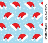 seamless christmas pattern with ... | Shutterstock .eps vector #1225695097