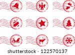 holiday stamp set grunge motif...