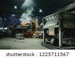 furnace for melting metal.... | Shutterstock . vector #1225711567