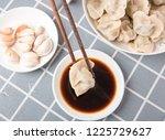 take chopsticks and vinegar at...   Shutterstock . vector #1225729627