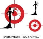 vector silhouette of retro...