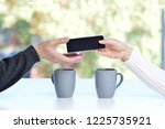 woman with a phone in his hand... | Shutterstock . vector #1225735921