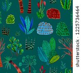 creative seamless pattern with... | Shutterstock . vector #1225736464