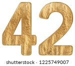 numeral 42  forty two  isolated ...   Shutterstock . vector #1225749007