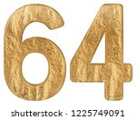 numeral 64  sixty four ... | Shutterstock . vector #1225749091