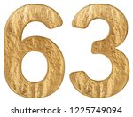 numeral 63  sixty three ... | Shutterstock . vector #1225749094