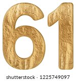 numeral 61  sixty one  isolated ... | Shutterstock . vector #1225749097