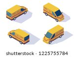 set mail car for delivery of...   Shutterstock .eps vector #1225755784