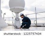 marine service technician or... | Shutterstock . vector #1225757434