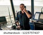 marine navigational officer is...   Shutterstock . vector #1225757437