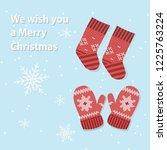 santa socks for cristmas time   Shutterstock .eps vector #1225763224
