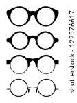 set of round vector glasses ...   Shutterstock .eps vector #122576617
