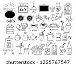 coffee shop hand drawn | Shutterstock .eps vector #1225767547