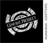 genuine product written with... | Shutterstock .eps vector #1225772191