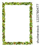 christmas decorations withholly ... | Shutterstock .eps vector #1225780477