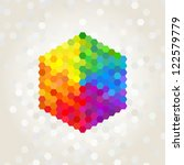 geometric figure  the... | Shutterstock .eps vector #122579779